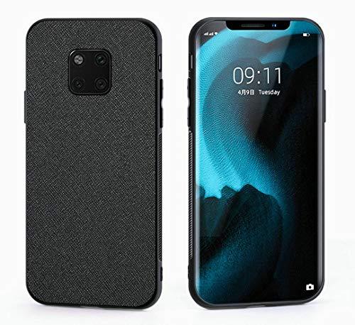 Kepuch Taiga Case Capas TPU PU-Couro para Huawei Mate 20 Pro - Preto