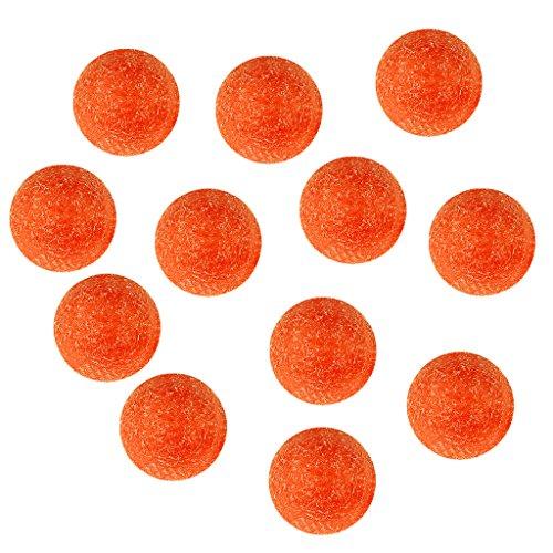 Colcolo 12 Paquetes de 36 Mm, Color Naranja, Fútbol, futbolín, Pelotas de Futbolín, Pelota Fussball
