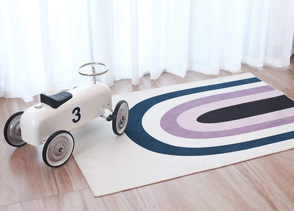 FC Fancy Colorful Striped store Kids Carpet Tod Play Portable Fort Worth Mall Mat Rug