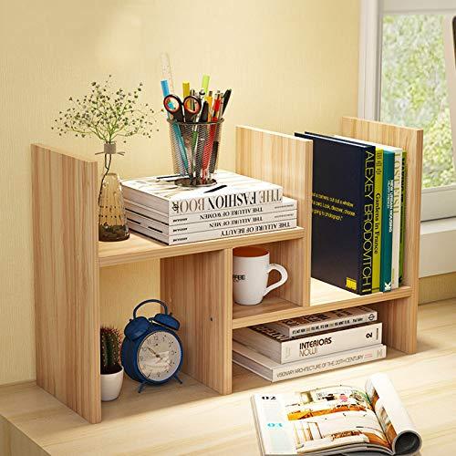 Anmas Power - Estantería pequeña de madera ajustable para escritorio (tamaño pequeño), color nogal