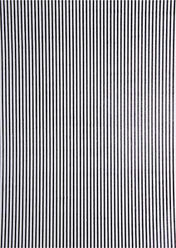 Netuno 5 Blatt Perlmutt-Weiß Dekorpapier, geprägt – Streifen in Schwarz, 180x250mm, handgemacht, 150g, Effekt-Karton orientalisch für Einladungskarten, Hochzeit, Weihnachten, Dekorationen