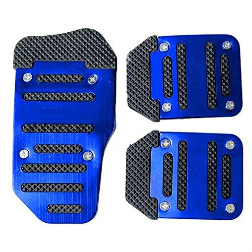 3Pcs Auto Pedal Set Pedale rutschfest Schaltgetriebe Pedalhaken Pedalabdeckung Bremsen (Blau)
