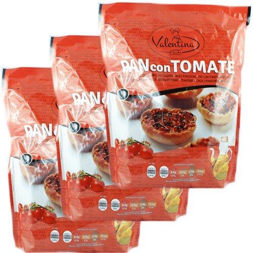 3x Valentina Pan con Tomate 'Geröstetes Brot mit Tomate und Oregano', 150 g