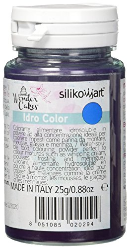 silikomart - Colorante Alimentare, Polvere idrosolubile Blu