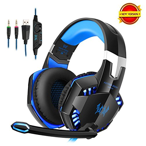 DAPING Gaming Headset PC PS4 Over-ear hoofdtelefoon gaming 3,5 mm met microfoon LED-licht voor PS4 PC film gaming chat muziek smartphone tablet Mac