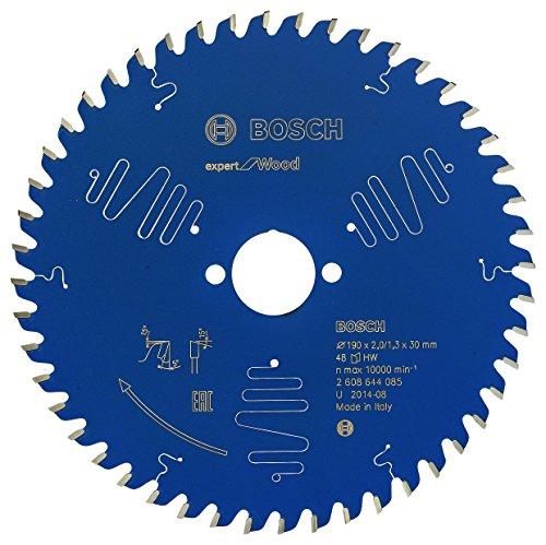 Bosch Kreissägeblatt Expert für Holz, 190 x 30 x 2 mm, Zähnezahl 48, 1 Stück, 2608644085