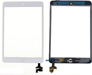 IPAD MINI & IPAD MINI2 タッチパネル フロントガラスデジタイザ ホームボタン+ICチップ ホワイト