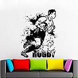 BJWQTY Stickers muraux pour Chambres Football américain, Match de Rugby, Ballon de Sport Stickers muraux pour Chambres pour garçons Stickers décoration maison-57x75 cm