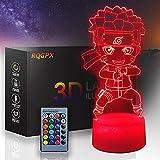Creatividad 3D ilusión lámpara noche luz Naruto mesa escritorio ilusión óptica Lámparas cargador USB para niños regalo cabecera dormitorio decoración del hogar
