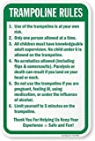 Trampoline Rules Schild | 45,7 x 61 cm Aluminium