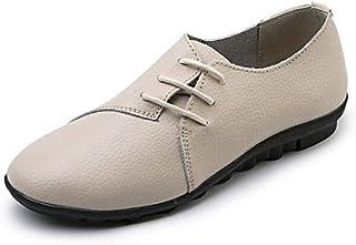 1f1b8aec3dd00 gj Modèles de Printemps et d automne Chaussures Plates en Cuir véritable  Chaussures Blanches Chaussures