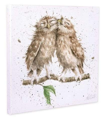Birds of a Feather Owl Canvas by Hannah Dale