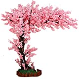 GAOXQ 1,5 M decoración para el hogar Flor de Cerezo Flor Artificial, árboles Grandes viñas Falsas Flores Interior al Aire Libre Seda Seda Sakura