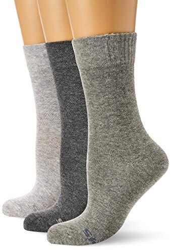 Skechers Socks Damen SK41009 Socken, Grau (Fog Melange 9200), (Herstellergröße: 39/42) (3er Pack)