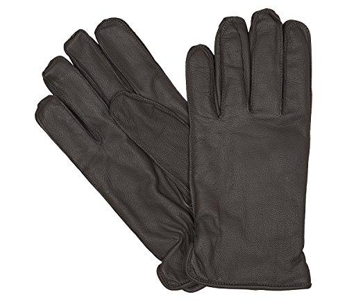 Bugatti Herrenhandschuhe Handschuhe Ziegennappaleder Braun 6458, Farbe:Braun, Größe:XXL