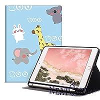 NeatClean new ipad 第7世代 10.2 ケース pencil収納 軽量 薄型 ipad 9.7 ケース ペンシル収納 耐衝撃 手帳型 かわいい ウサギ ipad pro11 ケース 2018 iPad 9.7インチ ケース 第六世代 iPad 第五世代 9.7 ケース 2017 ipad air3 ケース iPad mini5 ケース mini4ケース mini3ケース mini2ケース miniケース ipad Air3ケース Air2ケース Airケース スタント機能 タブレットケース ipad pro11 ケース ペンシル ipad pro10.5 ケース おしゃれ ipad 10.2 ケース ペンシル収納 アイパッドケース 二つ折り 三つ折り 背面透明 タイプ 魅力的 オシャレ おもしろ 動物園 ライオン ゾウ 兎柄 子供(iPad Pro/Air 10.5,b柄)