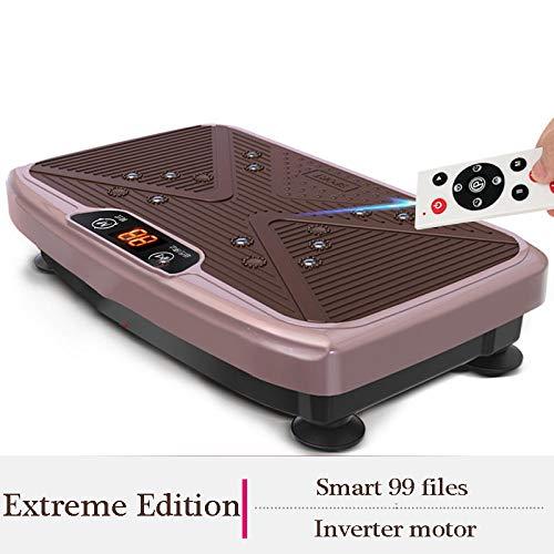 B/H Plataforma Vibración Ultra Delgado,Agite la máquina de Grasa, máquina de Ejercicios para Bajar de Peso-Oro Rosa,Vibratoria Máquina de Ejercicio
