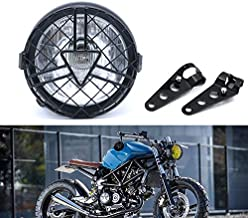 Universal Motorcycle Headlight, 6'' Halogen Head Lamp with Lampshade Cover Retro for Cafe Racer Bobber Chopper CG125 GN125 (clear)