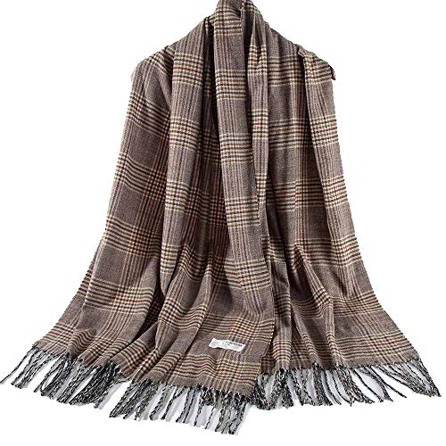 Cashmere-Like Large Plaid Tartan Shawl Wrap Sjaal voor dames en heren van Siganre
