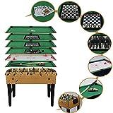 Homelikesport Table Multi Jeux 7 en 1 Baby-Foot, Billard, Air Hockey, Backgammon, Blackjack, échecs et Dames,Poker Sport Jouet