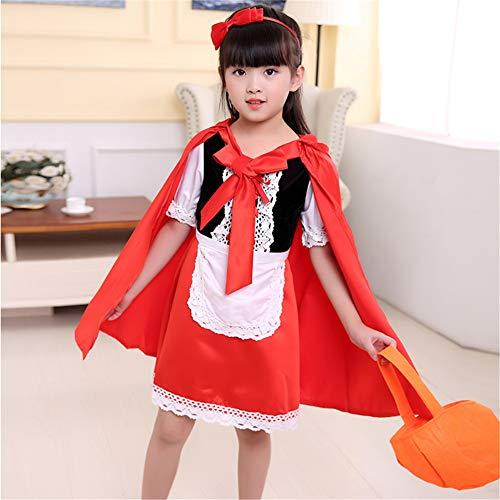 LLVV Halloween meisjes sprookjeskleding sexy meisje uniform kindercosplay kostuum cape kinderen roodkapje kostuum