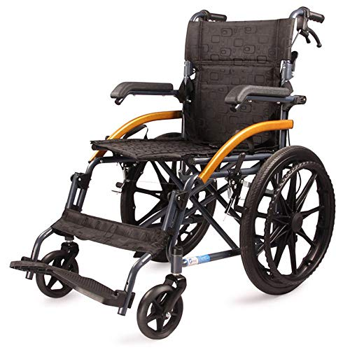 HPDOSHP Rollstuhl faltbar | Ergonomischem Sitz und Rückenlehne | Sitzbreite 45 cm - Geeignet für Behinderte Menschen und ältere Menschen