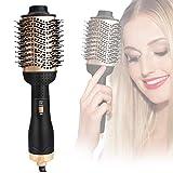 Hair Dryer Brush, MEKUULA Hot Air Anti-Scalding Hairstyle Straightener Curly Hairstyle Brush, One