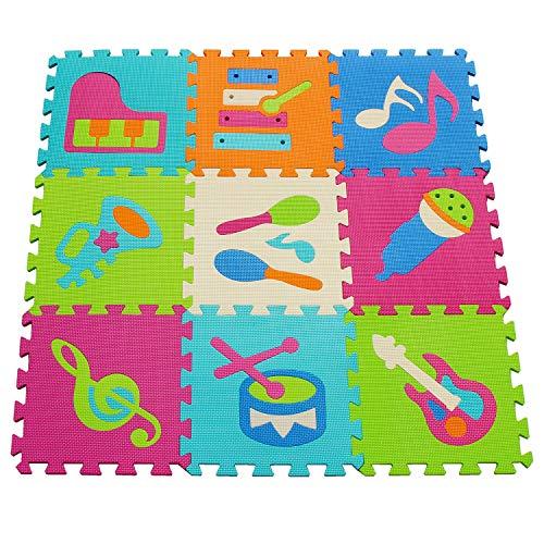 meiqicool - Alfombra Puzzle para Niños Bebe Infantil (92 x 92 x 1 cm,