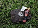 Straight razor warrior axe in Viking Celtic Nordic...