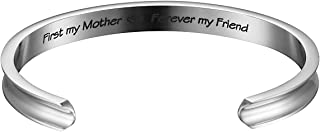 Haoflower Cuff Bracelet Bangle Engraved Secret Message Relatives for Mother Grandmother Daughter Granddaughter