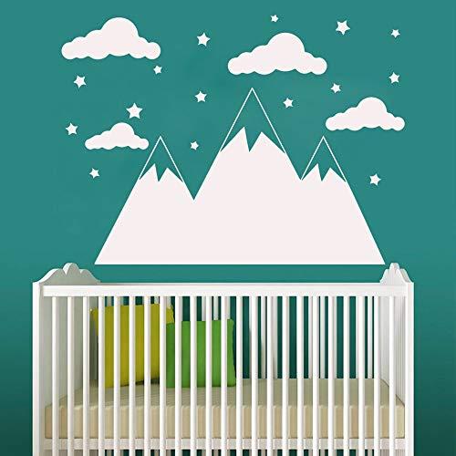 Beauty Mountain Habitación para niños Sala de estar Decoración del hogar Papel pintado impermeable Etiqueta de la pared A7 XL 57x78cm