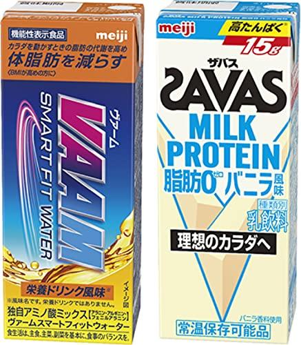 【セット買い】ヴァーム スマートフィットウォーター 200ml×24本 + ザバスミルクプロテイン バニラ風味 200ml×24本