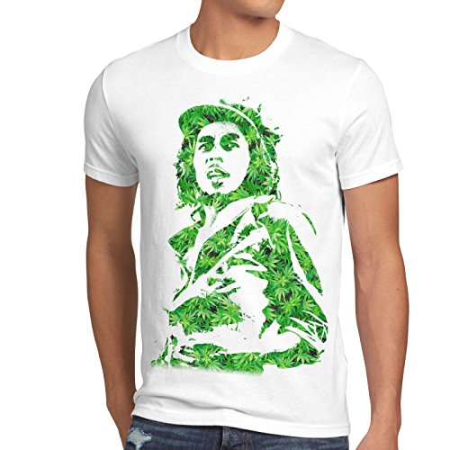style3 Cannabis Marley Camiseta para Hombre T-Shirt Bob Rasta música Jamaica cáñamo Reggae, Talla:M