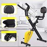 LHY SAVE Pliable Vélo D'appartement,avec Dossier,Vélo d'exercice intérieur, Affichage LCD et réglage de la résistance,X-Bike,Entraînement Cardio,Upgrade Models