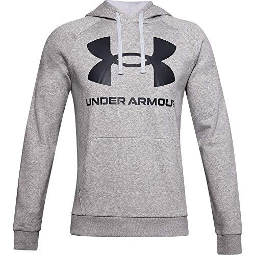 Under Armour UA BOXED SPORTSTYLE, atmungsaktives Sportshirt, schnelltrocknendes Funktionsshirt mit loser Passform Herren, Red / Steel, M