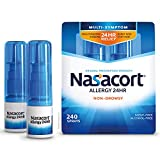 Nasacort Allergy 24HR Nasal Spray for Adults, Non-Drowsy & Alcohol-Free, 120 Sprays, 0.57 fl. oz. 2pk
