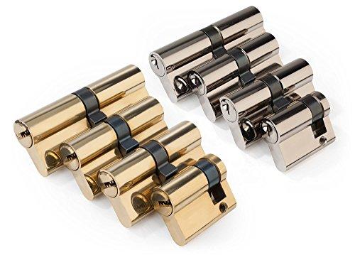 Schließzylinder Satz 4-teilig mit 12 Sicherheitsschlüsseln gleichschließend