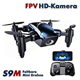 EFASO S9M Upgrade Edition – Quadcopter Pliable 2,4 GHz Mini FPV Drone 720p, caméra HD 720p, Planification de Flux Altitude Hold, Return Home Fonction Headless Mode, Démarrage Automatique et Landeau