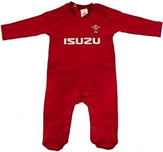 ラグビー ウェールズ代表 Wales RU オフィシャル商品 赤ちゃん・ベビー用 長袖 ボディースーツ ロンパース