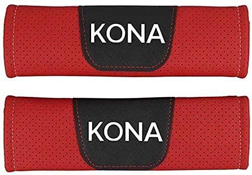 2Pcs Coche Almohadillas Cinturón Seguridad para Hyundai Kona, Hombro Correa Cojín Cuello Protector Interior Accesorios