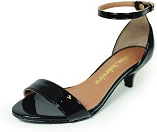 Sandália Salto Baixo Fino Luiza Sobreira Verniz Preto Mod. 4065