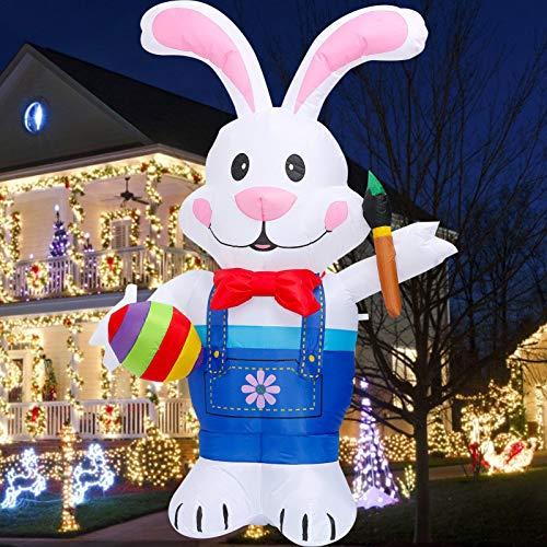 Poupée gonflable de lapin de Pâques de 1,2 m / 1,5 m / 1,8 m, modèle gonflable gonflable de Pâques de décoration intérieure extérieure de cour de partie (1 pièces)