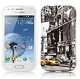 Cadorabo - Hard Cover für Samsung Galaxy Trend LITE - Case Cover Schutzhülle Bumper im Design: New York CAB