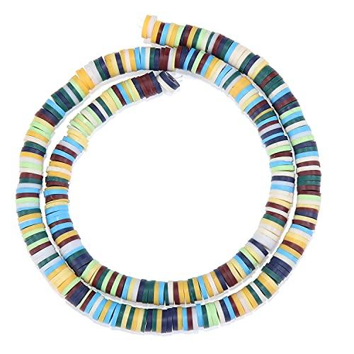 MURUI NTZ 6mm Color Clay Film Film Beads Separator Gasket Bead Scallion DIY Joyería Accesorios Yc705 (Color : 1)