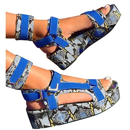 Aunimeifly Sandals for Women Wedge, Ankle Buckle Sandals Summer Beach Sandals Open Toe Espadrille Platform Sandals