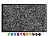 Schmutzfangmatte CLEAN – Anthrazit Grau 40x60 cm, Waschbare, Rutschfeste, Pflegeleichte Fußmatte, Eingangsmatte, Küchenläufer Sauberlauf-Matte, Türvorleger für Innen & Außen