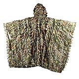 Xapahy - Poncho de camuflaje 3D con hojas de camuflaje