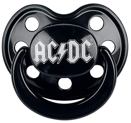 AC/DC Logo Schnuller schwarz 0-6 Monate