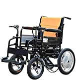 JYHQ Electric Wheelchair, Elderly Disabled Wheelchair, Foldable Portable Care 4-Wheel Double Motor Electric Scooter, Load Capacity 100Kg (Color : 10A),20A,Colour Name:12a (Color : 12a)
