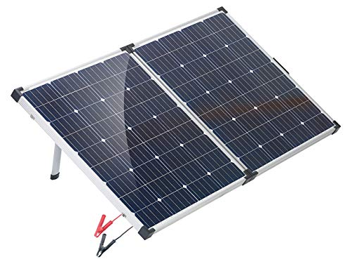 reVolt Solarpanel: Faltbares mobiles Solar-Panel mit monokristallinen Zellen, 160 Watt (Stromerzeuger)